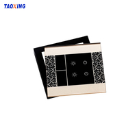 Customized Decorative 4mm Tempered Crystal Glass Switch Panel