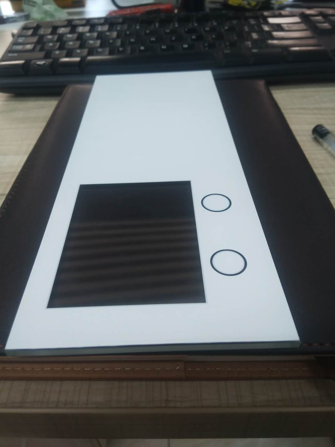 Silk Screen Printing Access Control Tempered Scratch-Resistant Glass