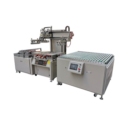 Flat glass panel semi-auto screen printing machine