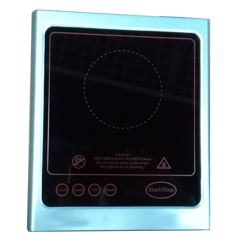 4mm Silkscreen Printed Black Ceramic Glass For Cooker Induction